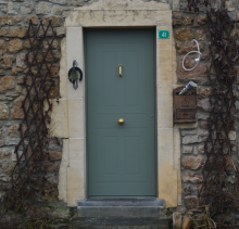 Porte d'entrée Deville avec profilés Schüco et châssis