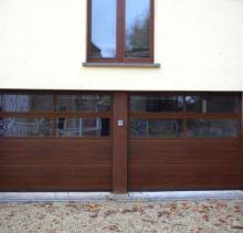 Portes de garage Hormann type LPU40 avec panneaux vitrés
